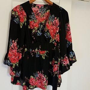 Betsey Johnson Kimono Style Blouse Women's S